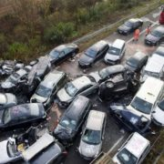 pileup while driving